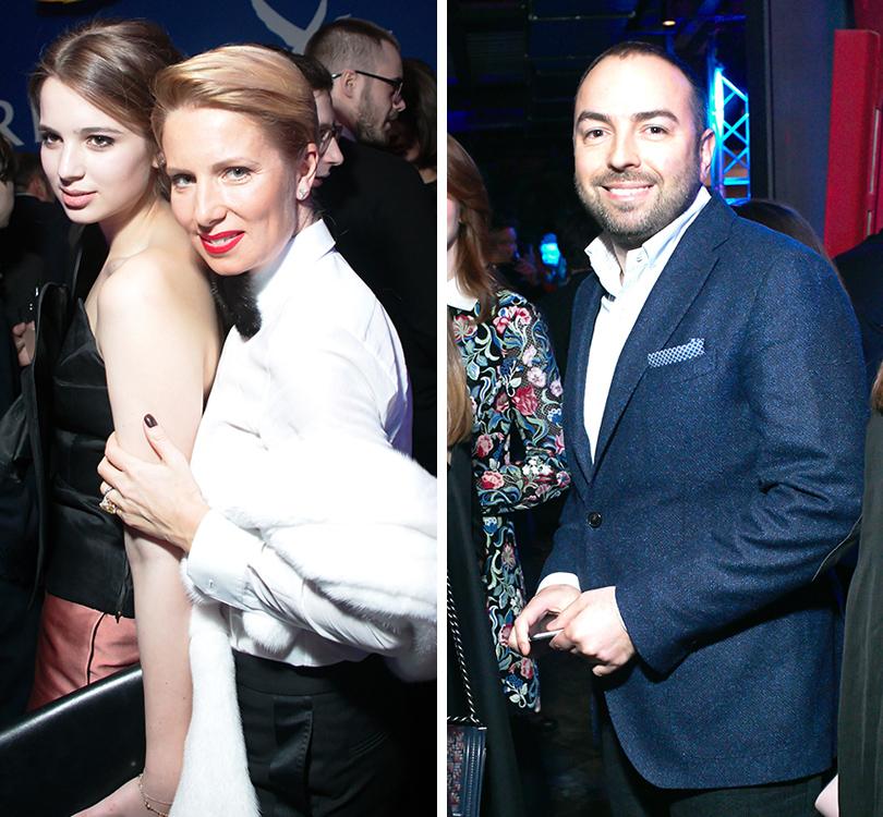 Вечер «100 самых стильных мужчин» по версии GQ: Светлана Захарова и Александра Маниович. Дмитрий Дудинский (D2 Marketing Solutions)