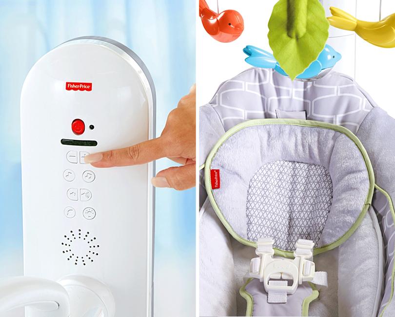 Posta Kids Club: «умные» изобретения впомощь молодым родителям. Кресло-качели для новорожденных Fisher-Price 4-in-1 Smart Connect Cradle 'n Swing