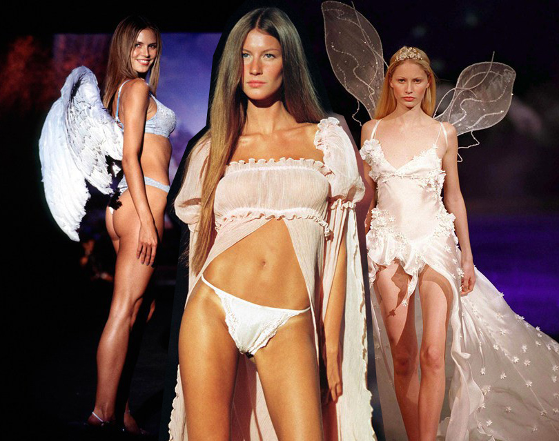 Style Notes: секреты Victoria's Secret. Как превратить бренд в культурный феномен? 1999 год. Хайди Клум, Жизель Бундхен и Кристи Хьюм становятся моделями Victoria's Secret.