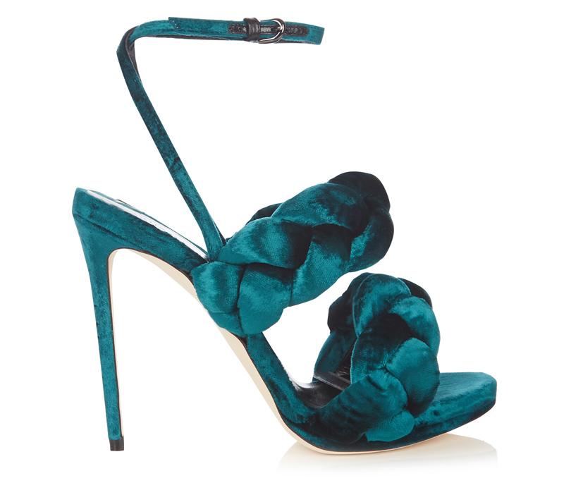 Новый год. Дресс-код: 28лучших пар обуви для новогодней вечеринки. Вельветовые босоножки Marco deVincenzo