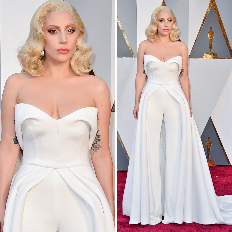 Oscars Special 2016: Леди Гага в Brandon Maxwell
