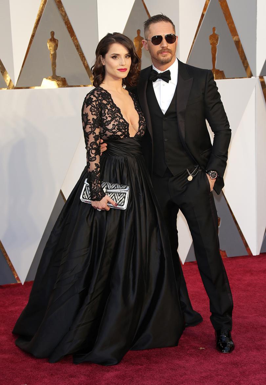 Звездные пары на церемонии вручения кинонаград «Оскар-2016»: Том Харди и Шарлотта Райли