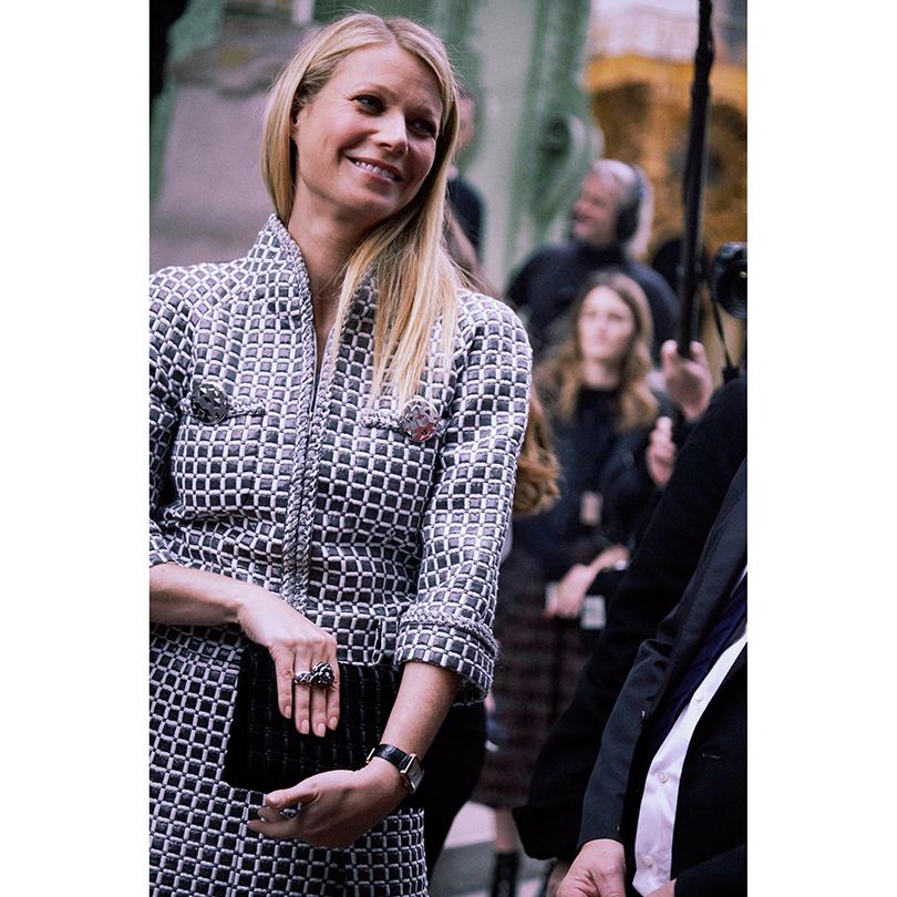 Показ Chanel на Неделе высокой моды в Париже: Гвинет Пэлтроу