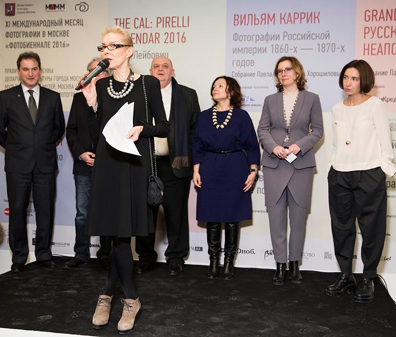 Ольга Свиблова с приветственной речью к гостям «Фотобиеннале»