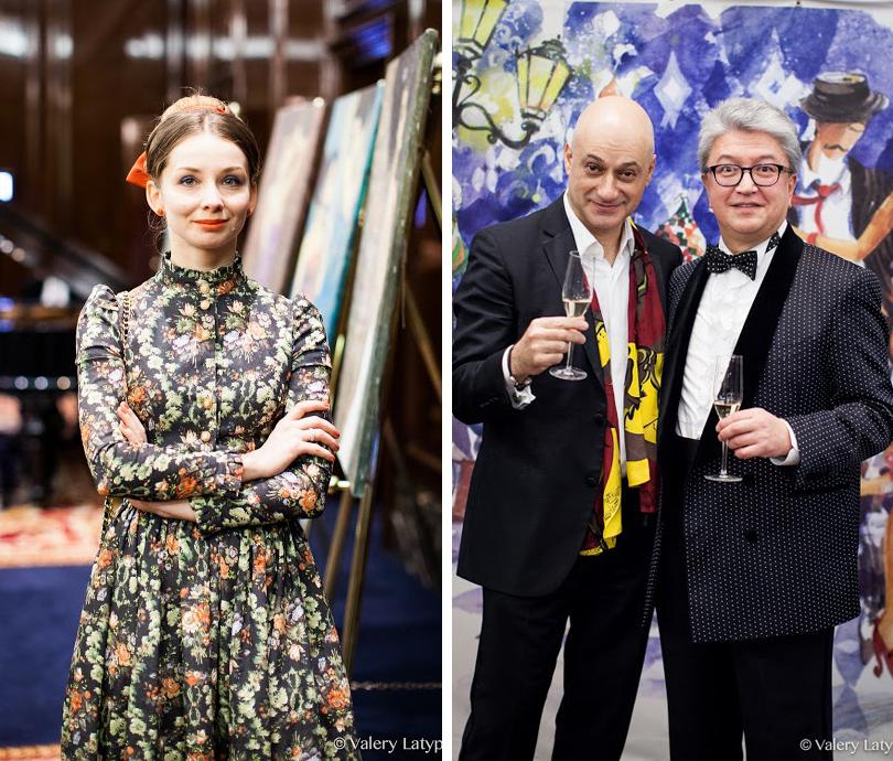 Евгения Образцова, художник Миша Ленн и Александр Огай