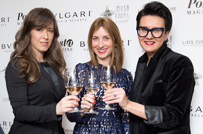 Екатерина Павлова (Wine-R), Дельфин Колумба (Bvlgari Milan) иМария Топольская (Top Signature)