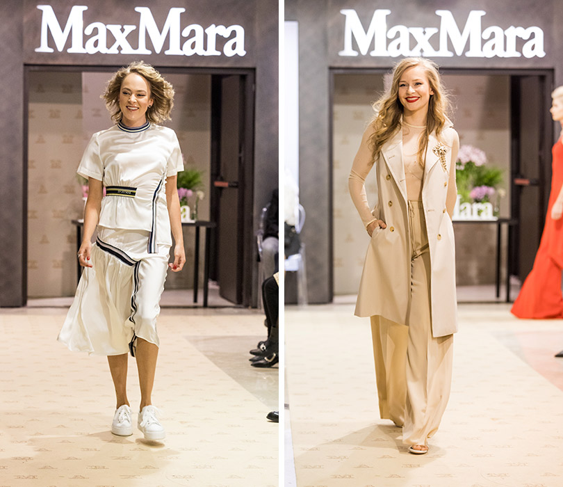 Двухэтажный флагманский бутик Max Mara— самый большой встолице— открылся в«Весне» наНовом Арбате. Аглая Тарасова. Юлия Пересильд