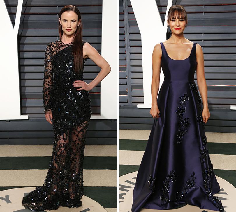Oscars Special 2017: звезды навечеринке Vanity Fair Oscar Party. Джульетт Льюис.  Рашинда Джонс в платье Prada
