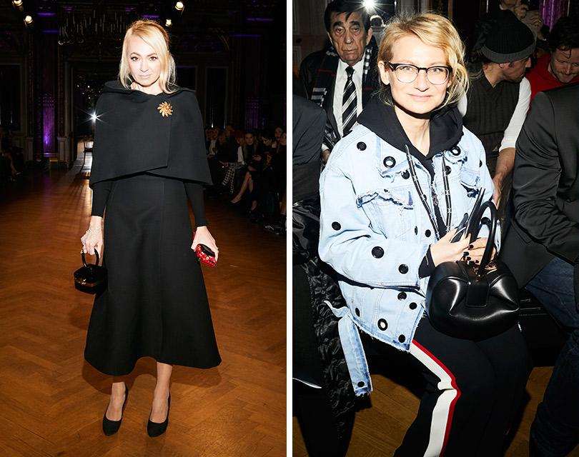 Гости показа Yanina Couture врамках Недели высокой моды вПариже. Яна Рудковская. Эвелина Хромченко