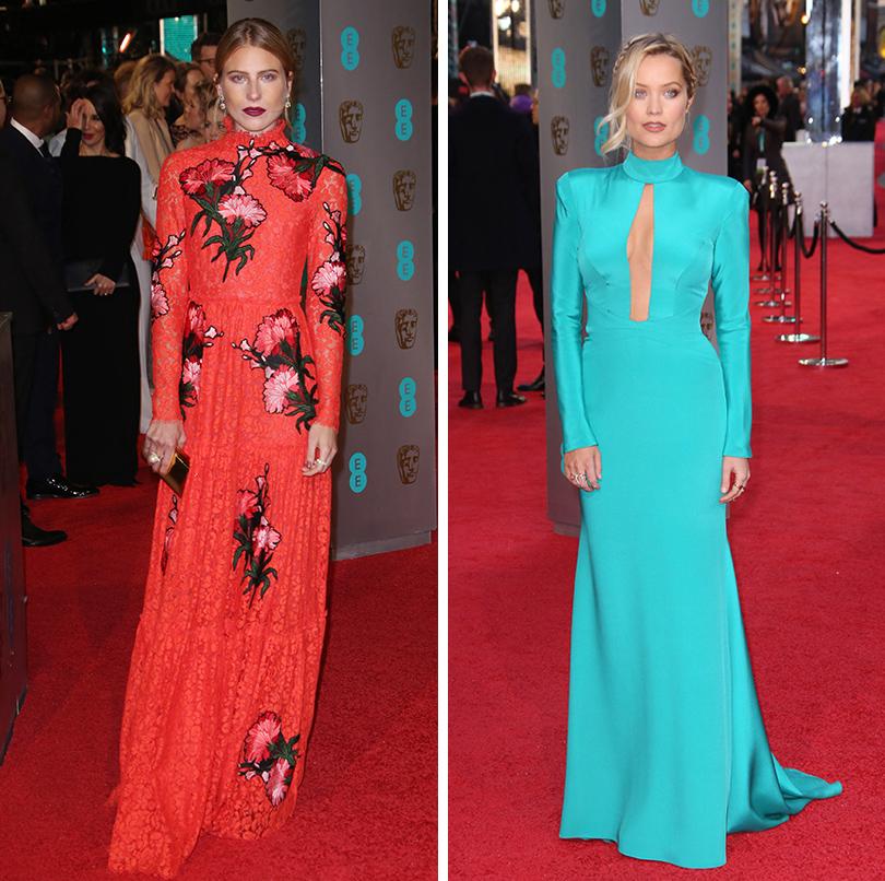 Церемония вручения премий BAFTA 2016 в Лондоне: Дри Хемингуэй. Лаура Уитмор