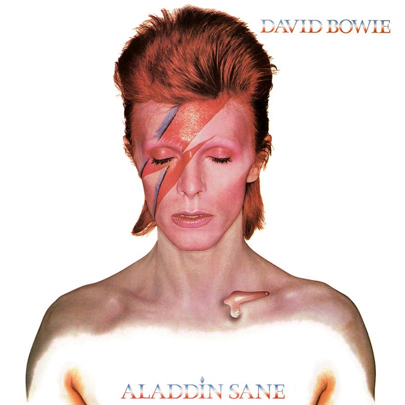 Альбом Aladdine Sane. Самый известный образ Боуи, 1973 г.