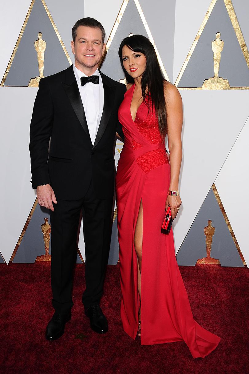 Звездные пары на церемонии вручения кинонаград «Оскар-2016»: Мэтт Деймон и Лучана Баррозо