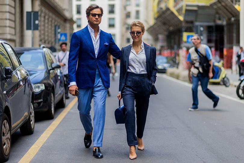 Street Style: лучшие образы на неделях мужской моды. Роберто Марано и фотограф Элеонора Себастьяни