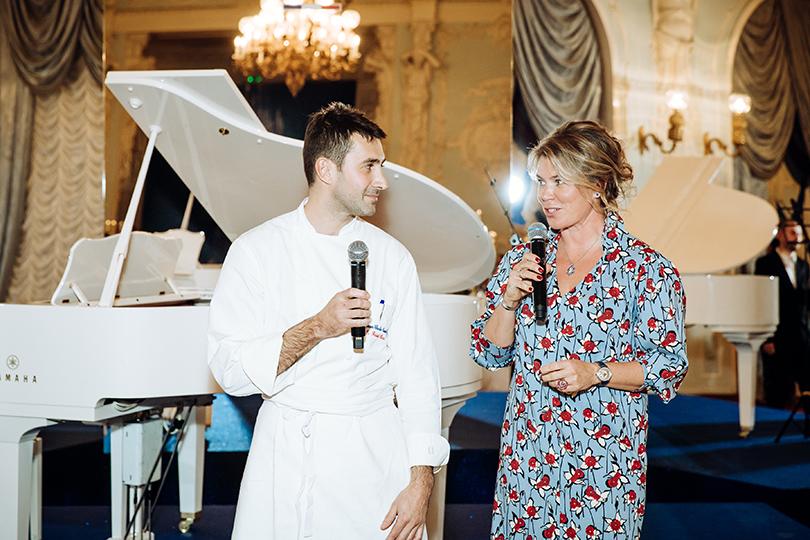 Жан-Шарль Кокий, обладатель звезды Мишлен, шеф-повар ресторана 114 Faubourg (Hotel LeBristol Paris) ивладелица PR-агентства Ars Vitae Наталья Боброва