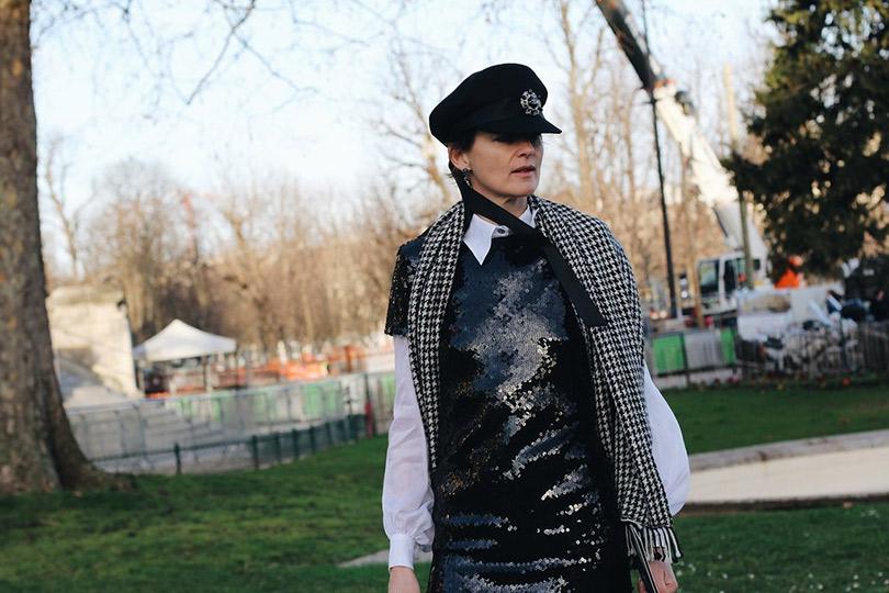Street Style: лучшие образы уличной моды сParis Couture осень-зима— 2018. Стелла Теннант