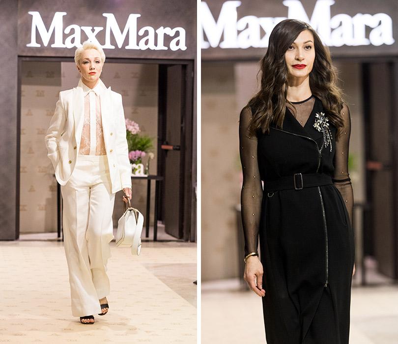 Двухэтажный флагманский бутик Max Mara— самый большой встолице— открылся в«Весне» наНовом Арбате. Дарья Мороз. Ирина Йовович