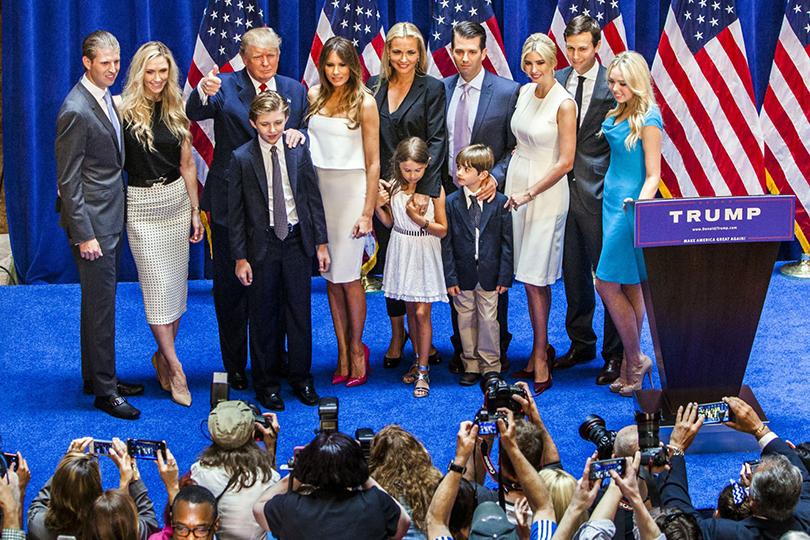 Дональд Трамп ивсе его дети