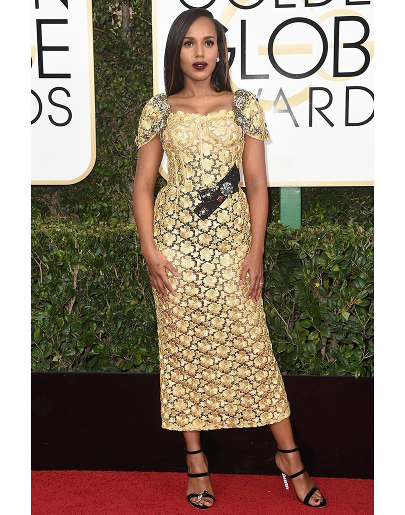 Керри Вашингтон вDolce &Gabbana Moda Couture