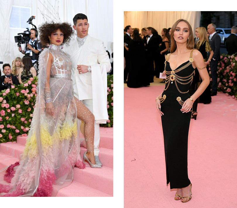 Бал Института костюма – 2019: Ник Джонас и Приянка Чопра (в Dior). Лили-Роуз Депп (в Chanel)