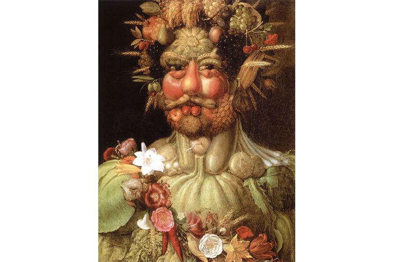 Джузеппе Арчимбольдо. Портрет императора Рудольфа IIв образе Вертумна (ок.1590)