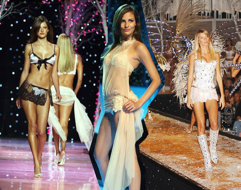 Style Notes: секреты Victoria's Secret. Как превратить бренд в культурный феномен? 2001 год. Показы становятся зрелищнее, а дизайн белья — все более интересным.