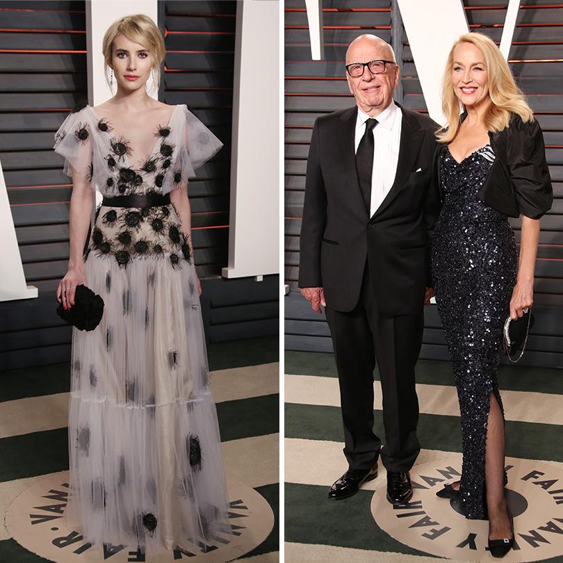Самые важные светские вечеринки «Оскара» — афтепати Vanity Fair: Эмма Робертс, Руперт Мердок с Джерри Холл