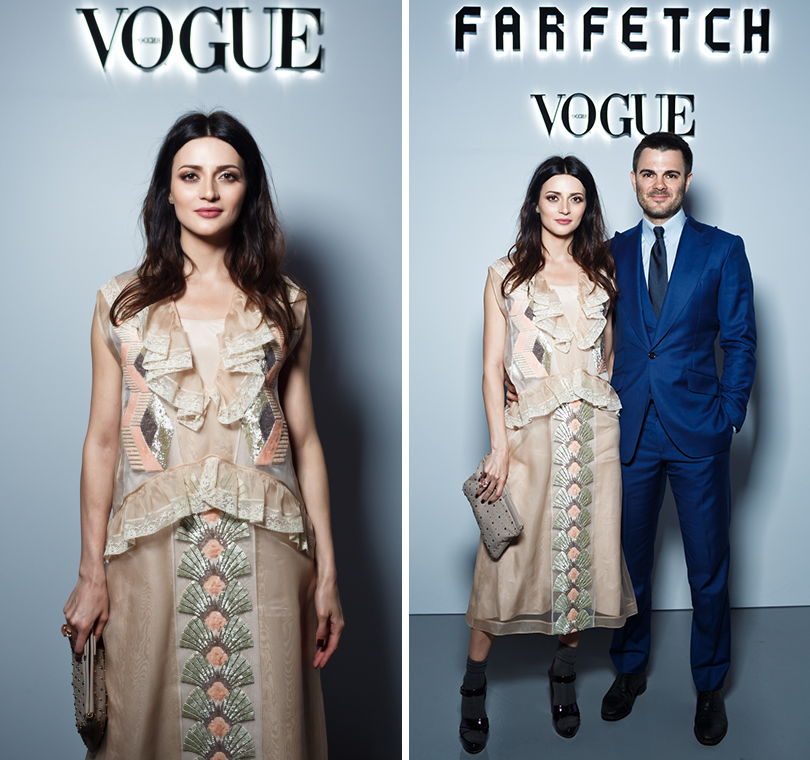 Закрытый ужин Vogue и бутика Farfetch: Марина Изилова с супругом Альбертом Сагиряном