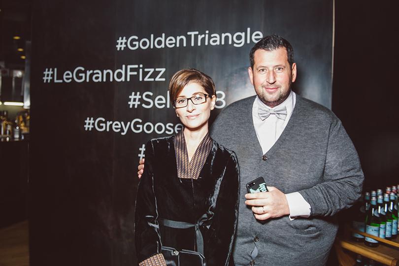 Юбилейный ужин Golden Triangle вресторане Selfie. Софико Шеварднадзе и Ян Яновский