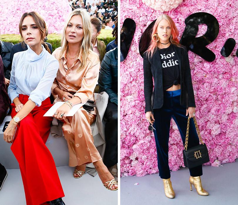 Первый показ Кима Джонса для Dior Homme. Виктория Бекхэм иКейт Мосс. Мэри Чартерис