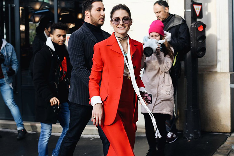 Street Style: лучшие образы уличной моды сParis Couture осень-зима— 2018. Оливия Палермо