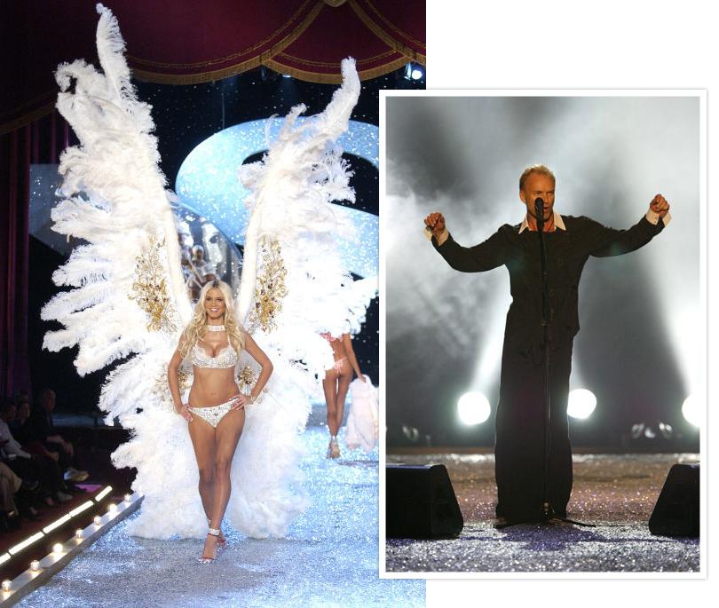 Style Notes: секреты Victoria's Secret. Как превратить бренд в культурный феномен? 2003 год. Размах крыльев становится все больше, а шоу привлекает мировых звезд не только в качестве зрителей, ноивкачестве участников (так, например, наодном изпоказов пел Стинг).