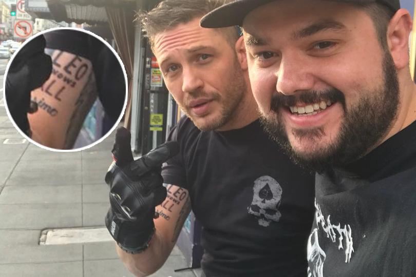 «Лео знает все»: Том Харди сделал татуировку поэскизу ДиКаприо