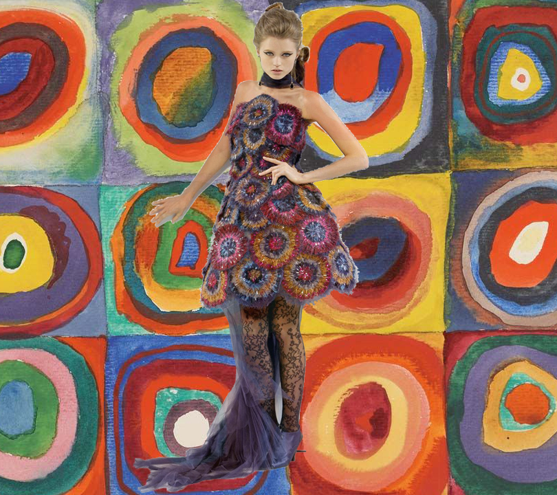 Chanel Couture, осень 2009г. «Квадраты сконцентрическими кругами», 1913г.