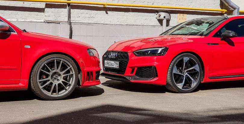Старая иновая: Audi B7RS4 иB9RS5в цвете Misano Red