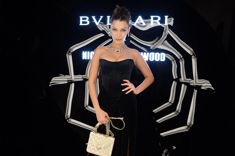 Вечеринка Bulgari вМилане вчесть презентации сумок Serpenti Forever отНиколаса Кирквуда: Белла Хадид