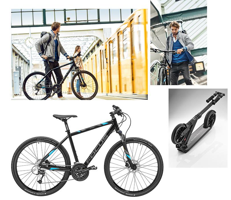 Велосипеды, самокаты и другие безмоторные средства передвижения от Mercedes-Benz