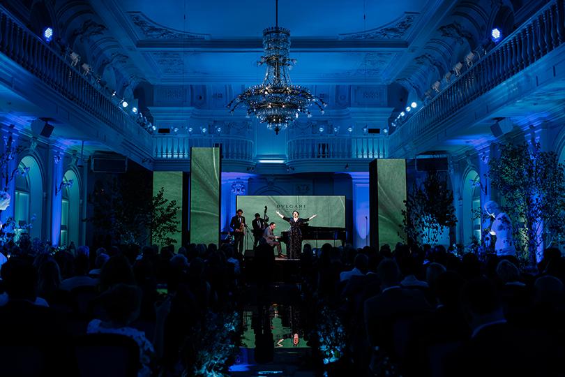 Музыкальный вечер с Хиблой Герзмава в честь запуска проекта «Резиденции BVLGARI в Москве». Хибла Герзмава