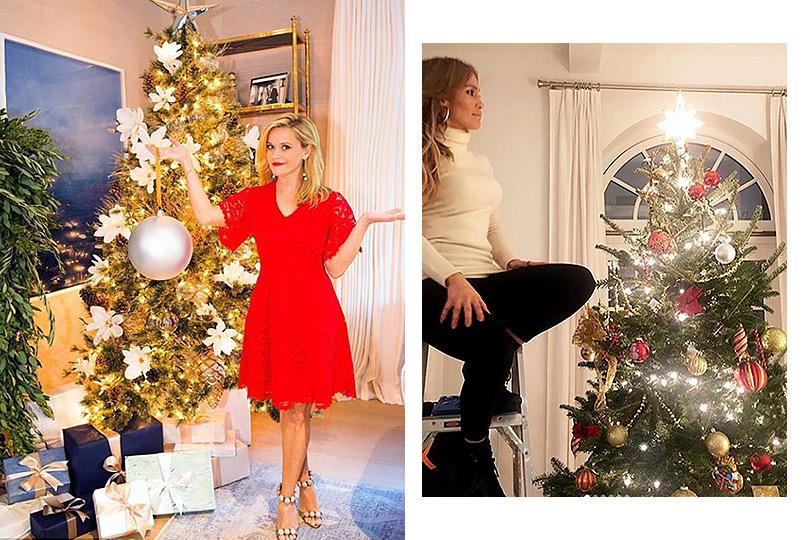 Инстаграм недели: дух Рождества— самые красивые елки зарубежных знаменитостей. Риз Уизерспун. Дженнифер Лопес