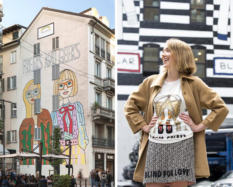 Модная карикатура: коллекция футболок Gucci срисунками Анжелики Хикс