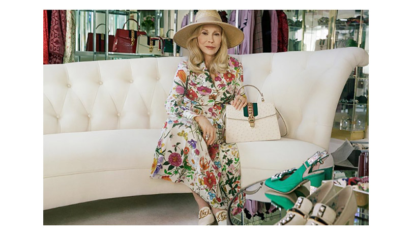 Dolce vita на Голливудских холмах: 77-летняя Фэй Данауэй снялась в рекламной кампании Gucci