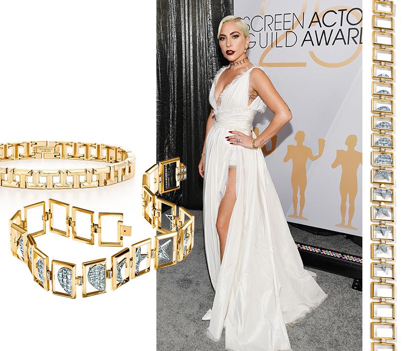 Фотоувеличение: Леди Гага в бриллиантах Tiffany & Co. на церемонии SAG Awards 2019