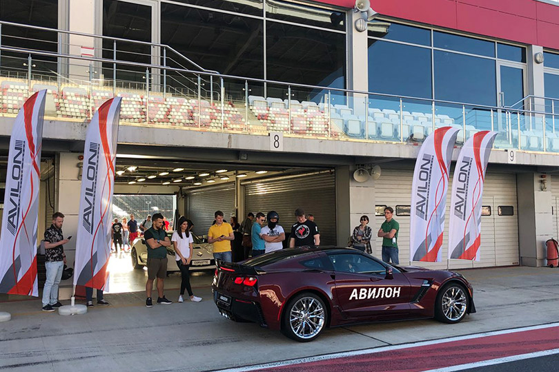 Рекорды Chevrolet Corvette в рамках Moscow Raceway