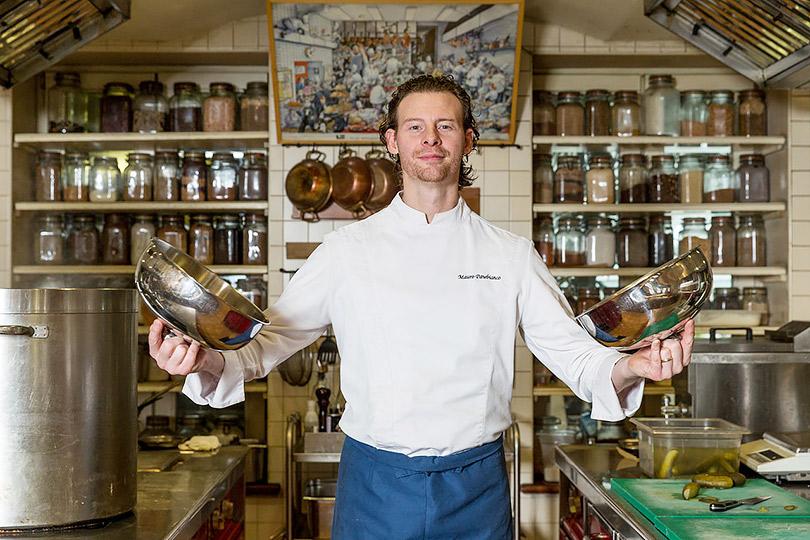 Мауро Панебьянко уже 14лет возглавляет кухню ресторана Cantinetta Antinori