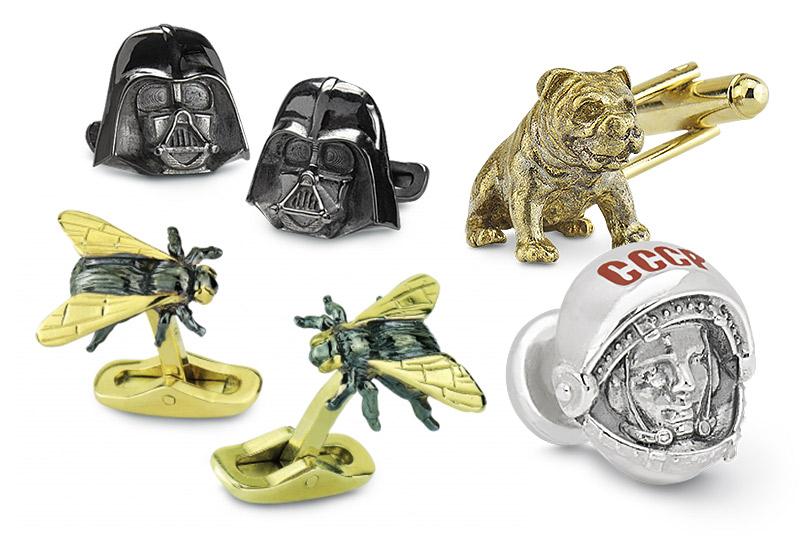 Запонки отроссийской марки Wasp вашего дизайна или сгравировкой