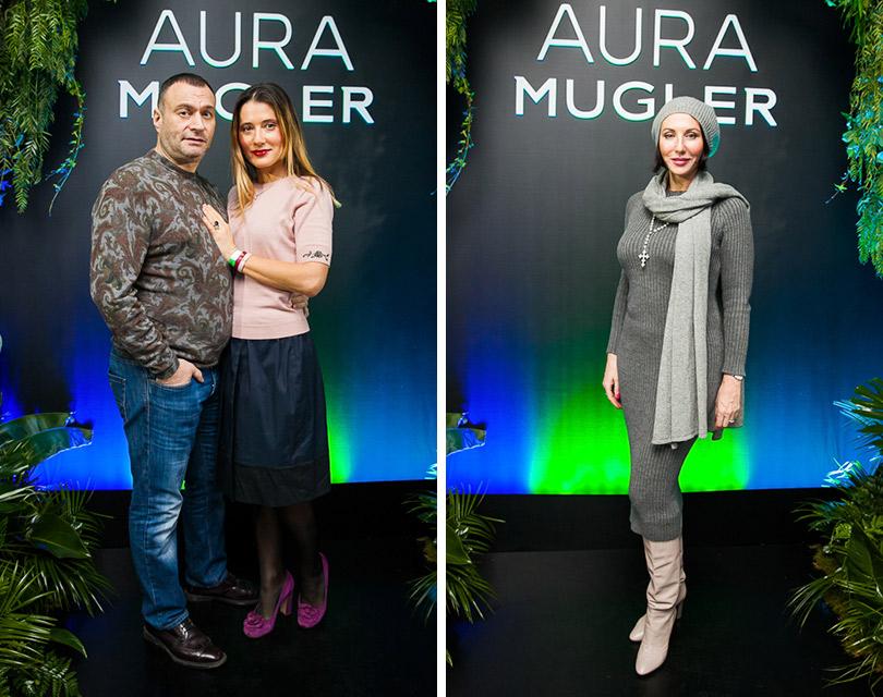 Запуск новой женской линии Aura парфюмерного дома Mugler. Отари Гогиберидзе и Яна Лапутина. Алика Смехова