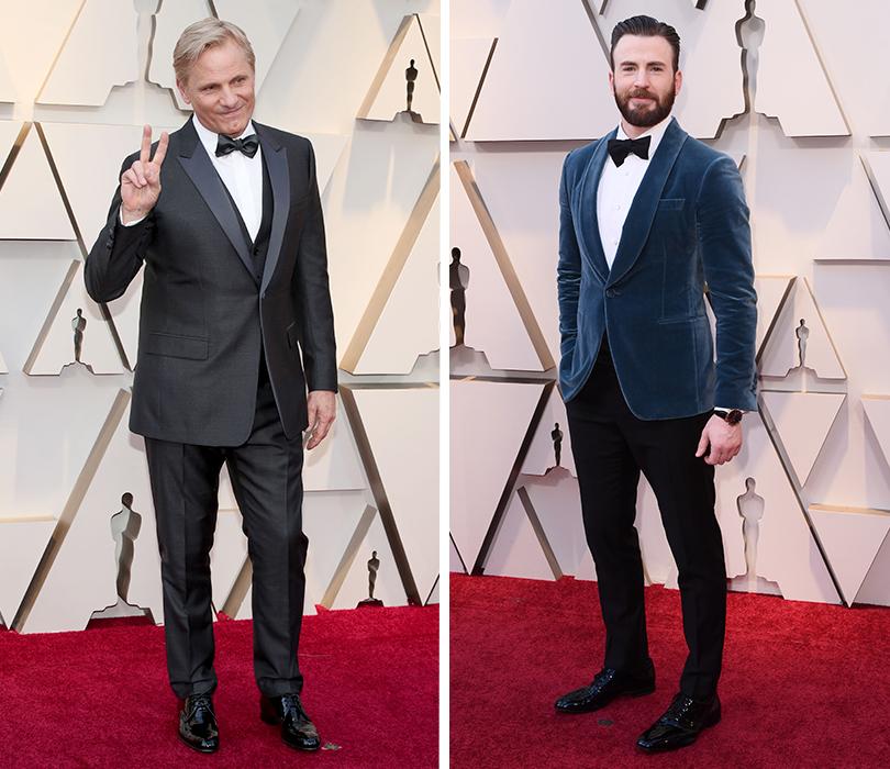 Самые стильные мужчины 91-й церемонии «Оскар». Вигго Мортенсен. Крис Эванс