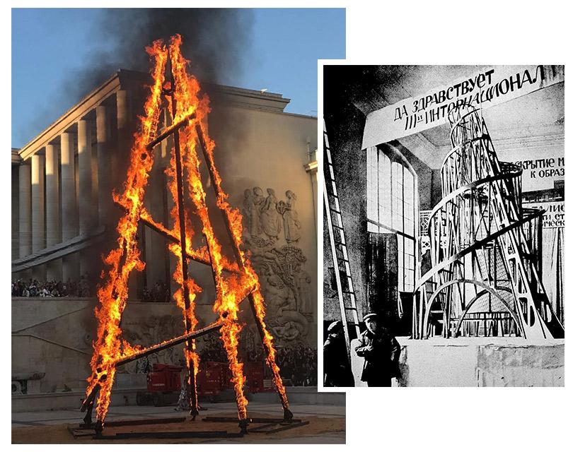 Ведьмы и памятник Коммунистического интернационала на показе Rick Owens в Париже