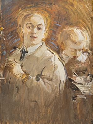 Михаил Шемякин. Автопортрет ссыном.1905