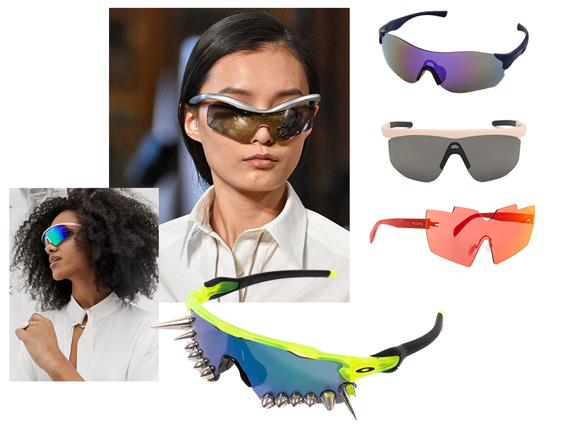 Велосипедные очки: Stella McCartney весна/лето 2019; очки ASOS, Uniqlo, Illesteva, Fakoshima, Vetements x Oakley