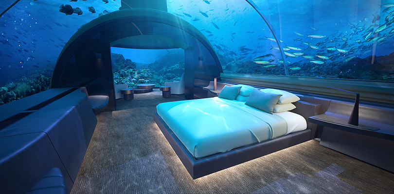 НаМальдивах откроется первая вмире подводная резиденция